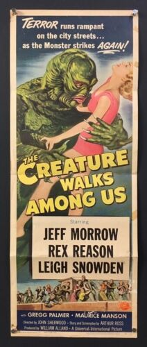 Creature Walks Among Us Original Movie Poster Insert 1956   *Hollywood Posters