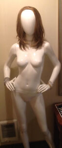 Tall mannequin on stand
