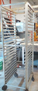 Bakery Rack w/ Wheels, can insert 26 Sheets - FOR SALE