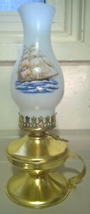 Vintage Brass Oil Kerosene Lantern Handle Farmhouse Lamp