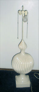 Paire de lampes blanches / Two White Ceramic Lamps