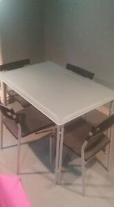 IKEA Glass table and 4 chairs Windsor Region Ontario image 1