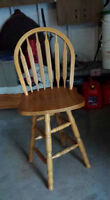2 tall kitchen chairs
