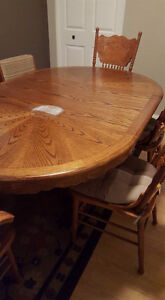Solid Oak Dining Table a 4 Chairs