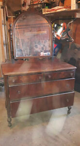 1957 antique acorn post dresser 4 sale with mirror
