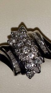 gorgeous cluster ring .50ct