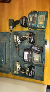 Makita Drills with 4 batteries 2 chargers