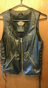 Ladies Harley Leather Vest