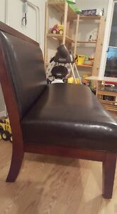 Faux leather bench - great condition