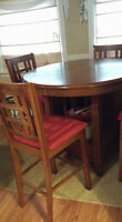 pub style table/ 4 chairs