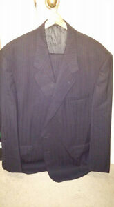 THE TRAVELER Suit - Navy with Pinstripes - Like New