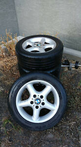 Set of 16'' BMW E36 Z3 Summer Tires with Alloy Rims