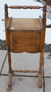 Solid Wood Antique Smoker's Stand