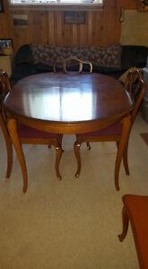 Gibbard dining set, mid century. Table, 3 chairs, and buffet