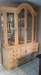 Beautiful solid maple hutch