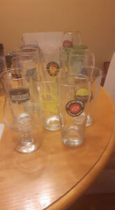 Lot of 16 Beer Glasses