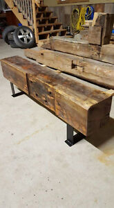 Rustic Reclaimed Barn Beam Benches!!