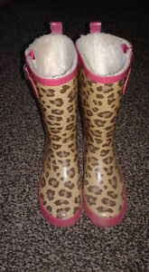 Girls lined rubber boots