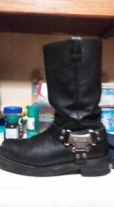 Size 10 Harley steel Bike toe boots