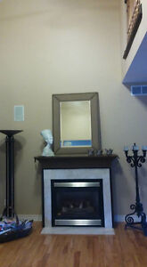 Fireplace mantel with marble surround ! Windsor Region Ontario image 4