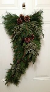 Christmas door greenery swag - NEW