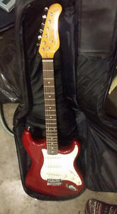 Guitar with soft case