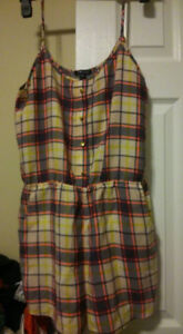 Plaid Neon colored Romper (FROM THE UK) (BRAND NEW)