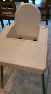 White high chair good condition. Pick up only.