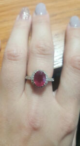Ladies Pink Sapphire Cocktail Ring