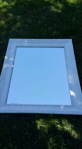 Painted White Distressed Wall Mirror