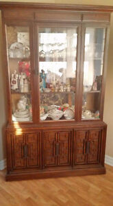 Hutch with table and chairs