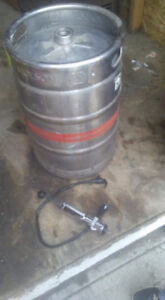 15.5 gal molson keg and micro matic keg tap for sale