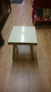 Small Wooden Table With White Top