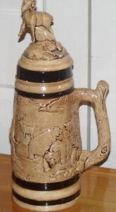 Chope à bière fabriquée en Hollande en 1977 par Linda Patwell