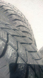 HANKOOK WINTER TIRES X4 ON STEEL RIMS. 185/65 R14 86T 4 bolt pat Kingston Kingston Area image 1
