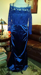 Brand new tried on but never worn. Royal Blue Gown Size XL 14-16