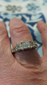 Almost 1 full carat, white gold ring