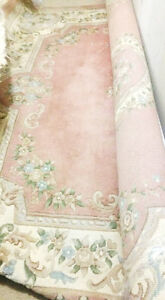 PINK IVORY Hand Knotted Wool Rug-8X10