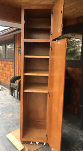 Real wood pantry and cupboard