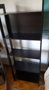 petite bibliotheque brun/noir -- ikea 25$