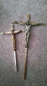 Crucifix/cross, 2 available.