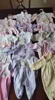 Girls sleepers size 0-3 mos $2 each or all 15 for $25