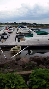 Boat dock at the marina in Cocagne