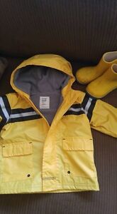 Size 18-24 month coat and size 6 rain boots