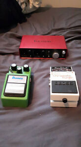 Pedals and an interface
