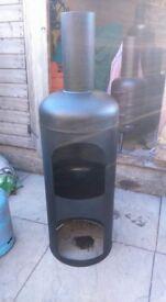Chiminea recycled 47kg gas bottle wood/log burner