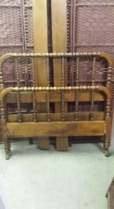 Vintage wooden twin/ single bed Peterborough Peterborough Area image 1