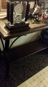 Stone Top Hall Table