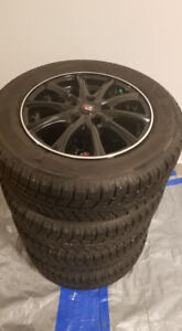 """Set of Winter Tires with Mags 15"""""""
