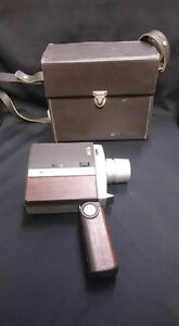 Bell & Howell Super Eight Vintage Video Camera With Leather Case